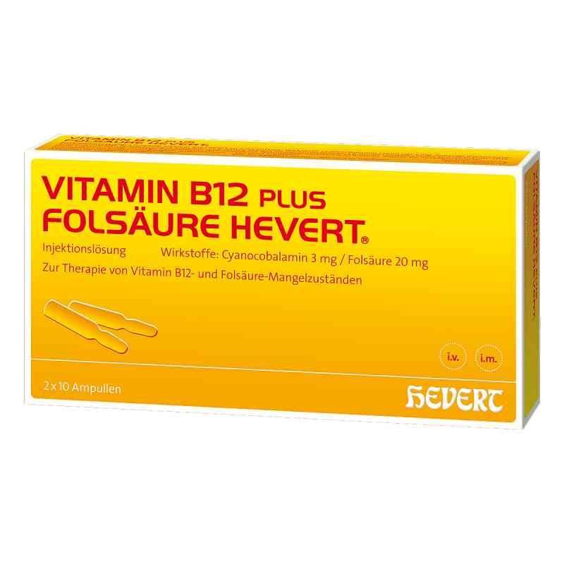 Vitamin B12 Folsäure Hevert Ampullen -paare  bei deutscheinternetapotheke.de bestellen