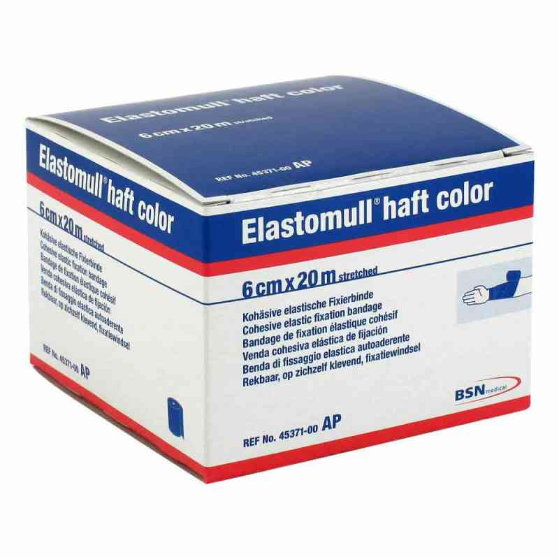 Elastomull haft color 20mx6cm blau Fixierbinde   bei deutscheinternetapotheke.de bestellen