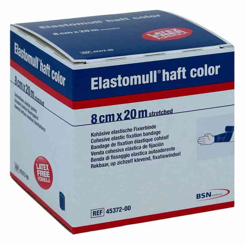 Elastomull haft color 20mx8cm blau Fixierbinde   bei deutscheinternetapotheke.de bestellen