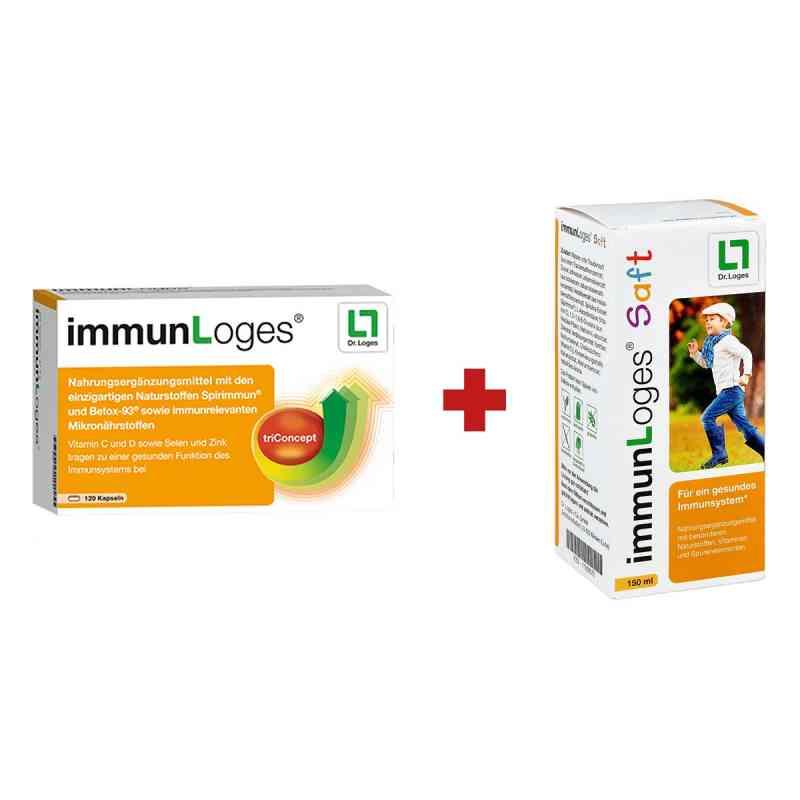 immunLoges Kapseln 120stk + GRATIS immunLoges Saft 150ml  bei deutscheinternetapotheke.de bestellen