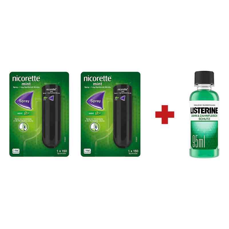 2 x Nicorette Spray +Listerine Zahn-& Zahnfleisch Schutz Lösung  bei deutscheinternetapotheke.de bestellen