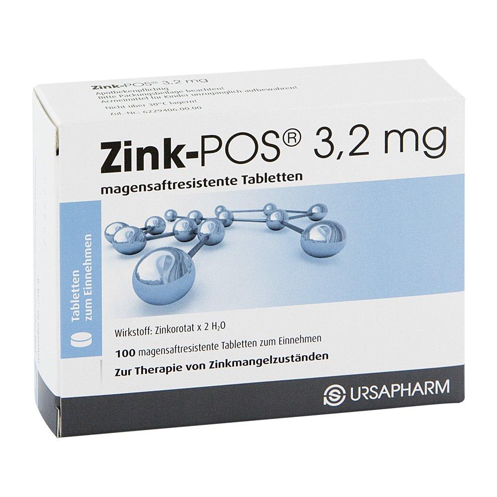Zink-POS 3,2mg 100 stk - Deutsche Internet Apotheke®