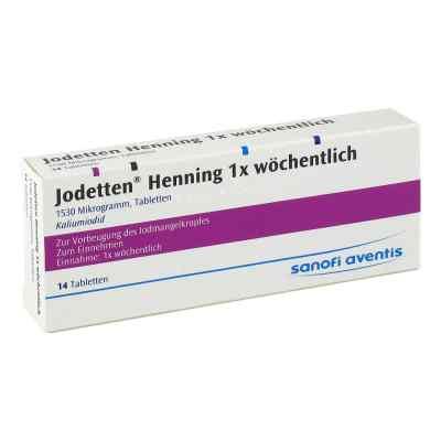 Jodetten Henning 1x wöchentlich 1530 Mikrogramm  bei deutscheinternetapotheke.de bestellen