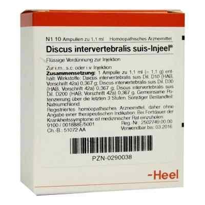 Discus Intervertebralis suis Injeel Ampullen  bei deutscheinternetapotheke.de bestellen