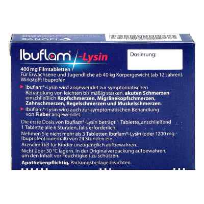 Ibuflam Lysin 400 mg Ibuprofen Schmerztabletten  bei deutscheinternetapotheke.de bestellen