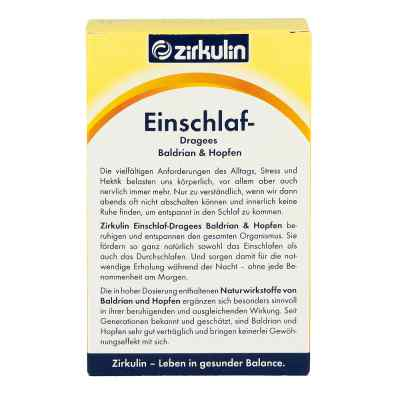 Zirkulin Einschlafdragees Baldrian Hopfen  bei deutscheinternetapotheke.de bestellen