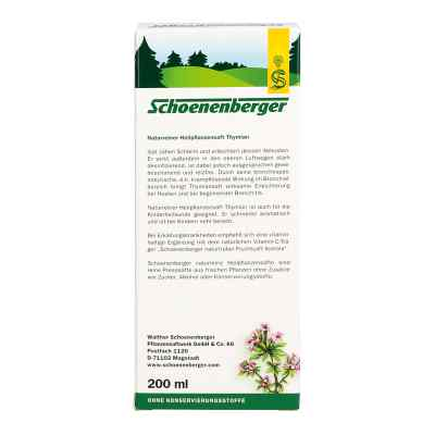 Thymiansaft Schoenenberger  bei deutscheinternetapotheke.de bestellen