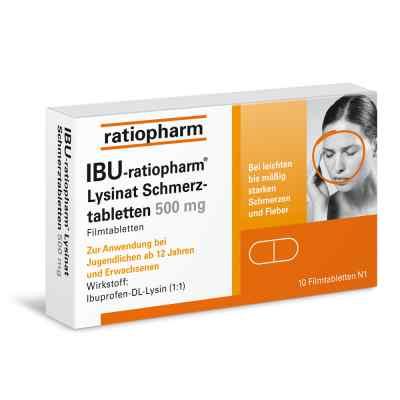 IBU-ratiopharm Lysinat Schmerztabletten 500mg  bei deutscheinternetapotheke.de bestellen