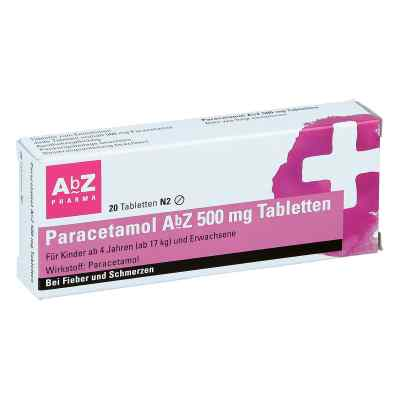 Paracetamol AbZ 500mg  bei deutscheinternetapotheke.de bestellen