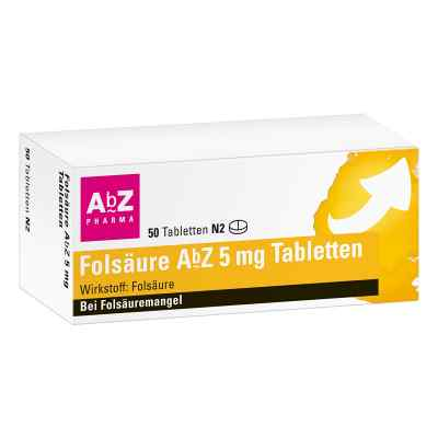 Folsäure Abz 5 mg Tabletten  bei deutscheinternetapotheke.de bestellen