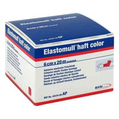 Elastomull haft color 20mx6cm rot Fixierbinde   bei deutscheinternetapotheke.de bestellen