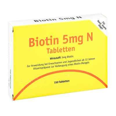 Biotin 5 mg N Tabletten  bei deutscheinternetapotheke.de bestellen