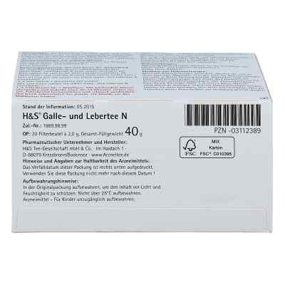 H&s Galle- und Lebertee N Filterbeutel  bei deutscheinternetapotheke.de bestellen
