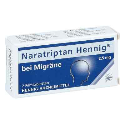 Naratriptan Hennig bei Migräne 2,5mg  bei deutscheinternetapotheke.de bestellen