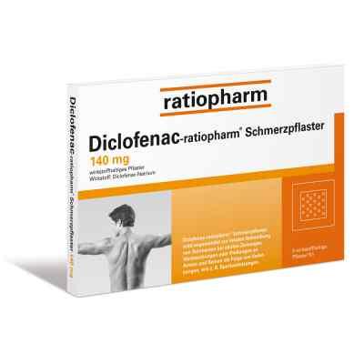 Diclofenac-ratiopharm Schmerzpflaster 140mg  bei deutscheinternetapotheke.de bestellen