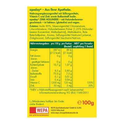 Apoday Holunder Vitamin C+zink ohne Zucker Pulver  bei deutscheinternetapotheke.de bestellen