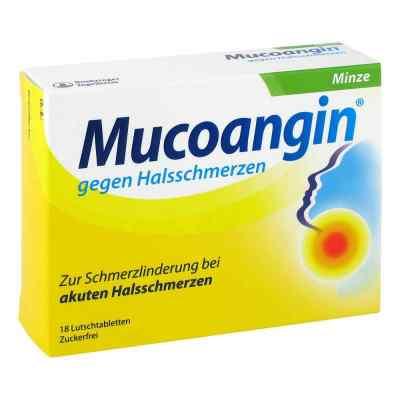 Mucoangin gegen Halsschmerzen Minze Lutschtabletten  bei deutscheinternetapotheke.de bestellen