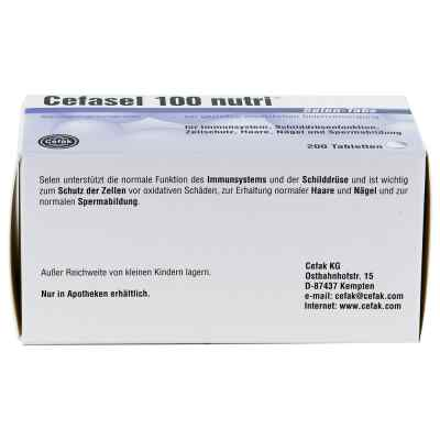 Cefasel 100 nutri Selen Tabs Tabletten  bei deutscheinternetapotheke.de bestellen
