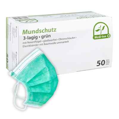 Medi Inn Mundschutz Maske mit Bändern grün  bei deutscheinternetapotheke.de bestellen