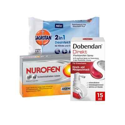 Erkältungsset Dobendan, Nurofen, Sagrotan  bei deutscheinternetapotheke.de bestellen