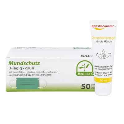 Mundschutz Maske und Hände-Desinfektionsgel  bei deutscheinternetapotheke.de bestellen