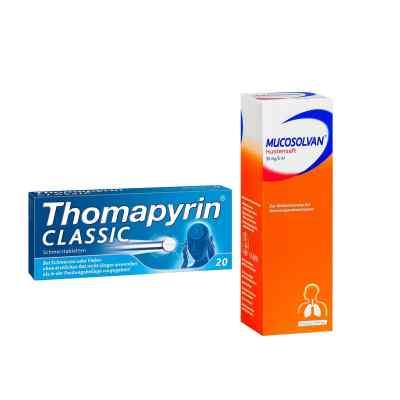 Aktionspaket - Mucosolvan Hustensaft und Thomapyrin CLASSIC  bei deutscheinternetapotheke.de bestellen