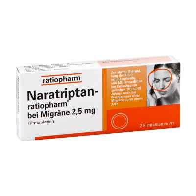 Naratriptan-ratiopharm bei Migräne 2,5mg  bei deutscheinternetapotheke.de bestellen