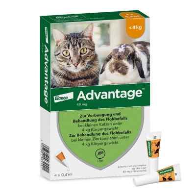Advantage 40 mg für kl.Katzen und kl.Zierkaninchen  bei deutscheinternetapotheke.de bestellen