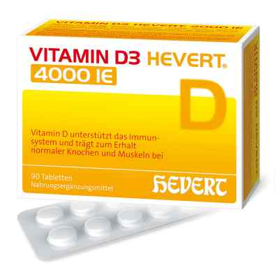 Vitamin D3 Hevert 4.000 I.e. Tabletten  bei deutscheinternetapotheke.de bestellen