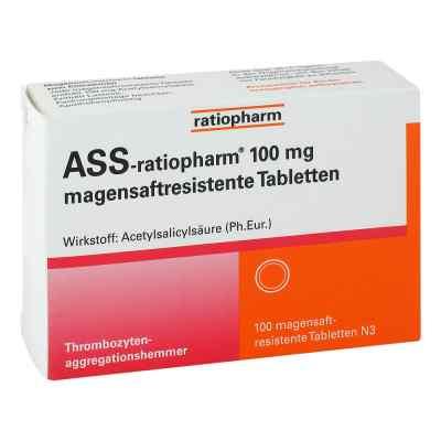 Ass ratiopharm 100 mg magensaftresistent   Tabletten  bei deutscheinternetapotheke.de bestellen