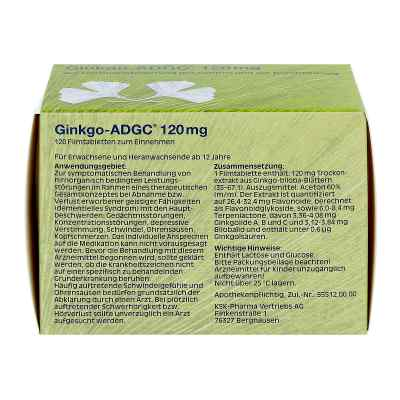 Ginkgo Adgc 120 mg Filmtabletten  bei deutscheinternetapotheke.de bestellen