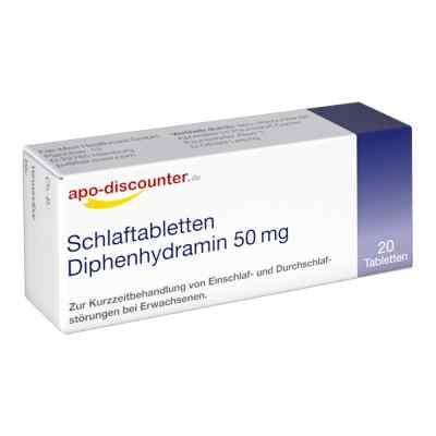 Schlaftabletten Diphenhydramin apo-discounter 50 mg Tabletten  bei deutscheinternetapotheke.de bestellen