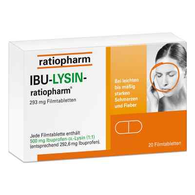 Ibu-lysin-ratiopharm 293 mg Filmtabletten  bei deutscheinternetapotheke.de bestellen