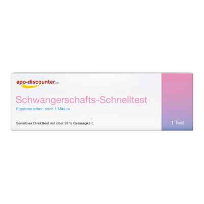 Schwangerschaftstest Schnelltest ab 25ie/l Urin von apo-discount  bei deutscheinternetapotheke.de bestellen