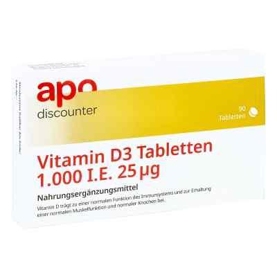 Vitamin D3 Tabletten 1000 I.e. 25 [my]g von apo-discounter  bei deutscheinternetapotheke.de bestellen
