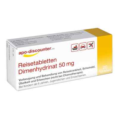 Reisetabletten Dimenhydrinat 50 mg Tabletten von apo-discounter  bei deutscheinternetapotheke.de bestellen