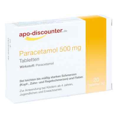 Paracetamol 500 mg Tabletten  bei deutscheinternetapotheke.de bestellen